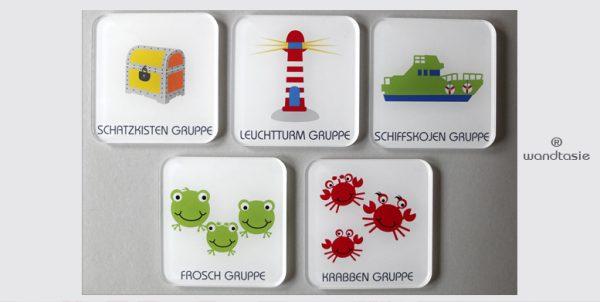 Gruppenraum Schilder mit individuellen Symbolen von www.wandtasie.de