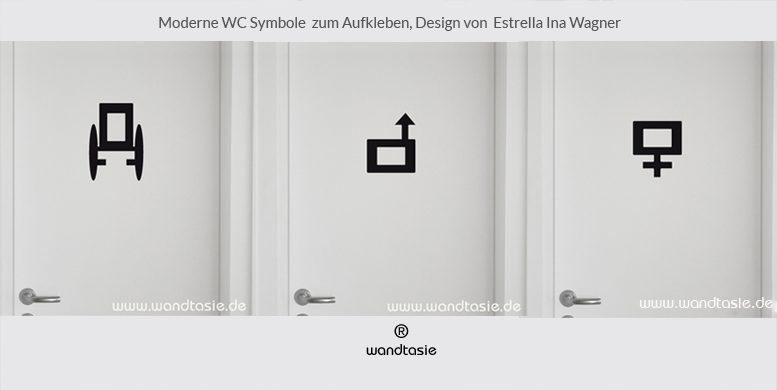 moderne WC Symbole von www.wandtasie.de