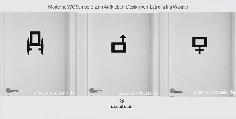 moderne wc symbole zum aufkleben schilder piktogramme. Black Bedroom Furniture Sets. Home Design Ideas
